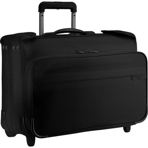 Briggs & Riley Carry On Wheeled Garment Bag Black