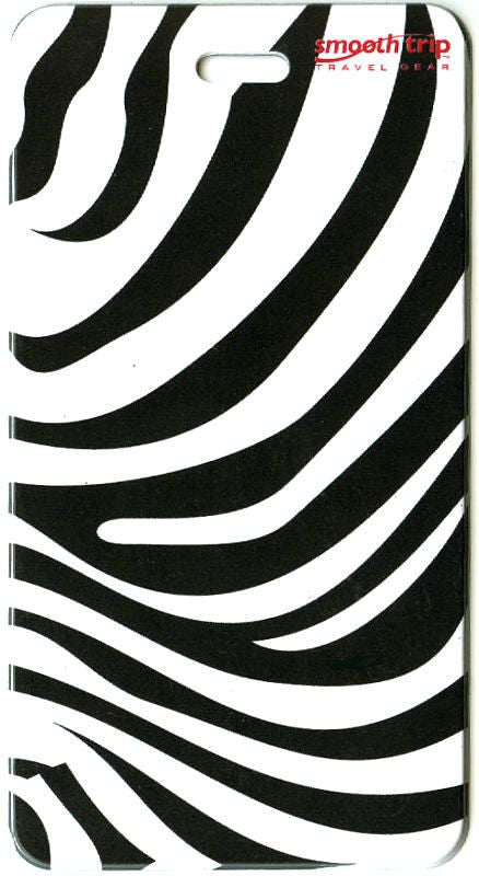Smooth Trip Animal Prints Luggage Tag Zebra