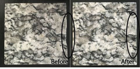 Granite edge chip repair