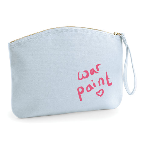 Makeup Is My War Paint- Accessory Bag - Ai Printing