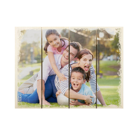 Personalised Wood Photo Plaque Pallet Style Frame - Ai Printing