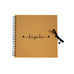 Personalised Name Initial Memory Album Spiral Bound Kraft Scrapbook - Brown - Ai Printing