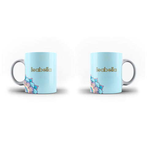 Personalised Name Initial Floral Background - Personalised Mug - Ai Printing