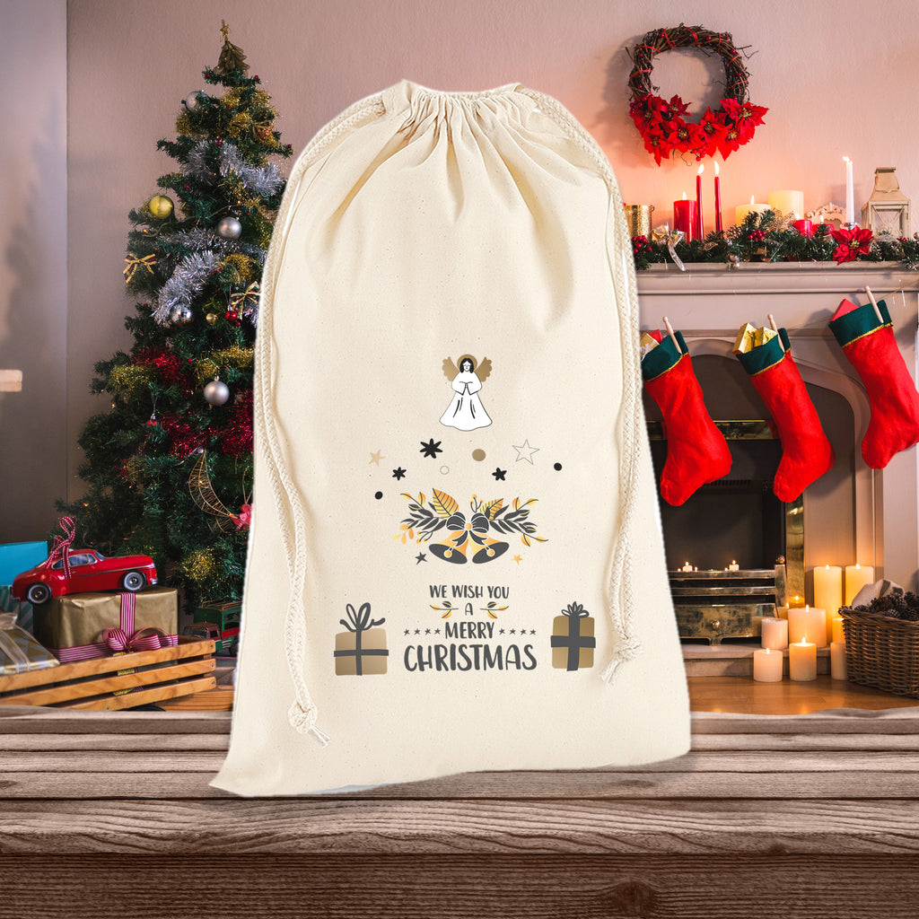 We Wish You A Merry Christmas Sack Bag - Ai Printing