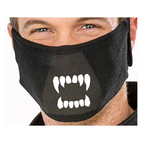 Halloween Scary Vampire Monster Teeth Face Mask - Halloween Natural yarn antibac Face Mask(halloween half masks,halloween face masks,cool mask designs,weird mask,the mask halloween costumecreepy masks for sale)