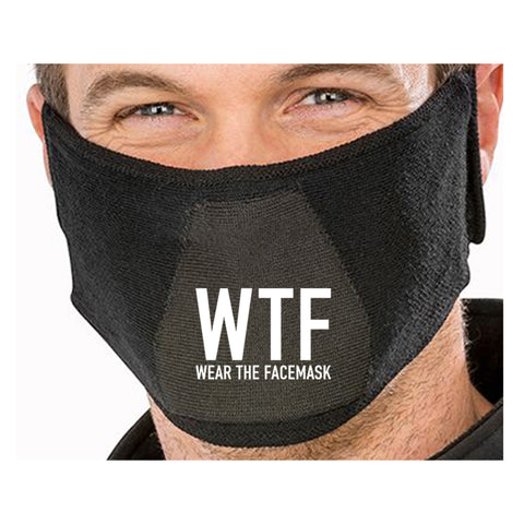 WTF Wear The Facemask Funny Quote - Funny Natural yarn antibac Face Mask(face mask for sale,face protection mask,Funny Face mask,best face masks,reusable face mask,breathable face mask)