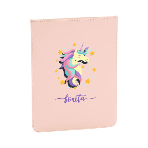 Personalised Name Initial Cute Unicorn Artwork - Boutique iPad slip - Ai Printing