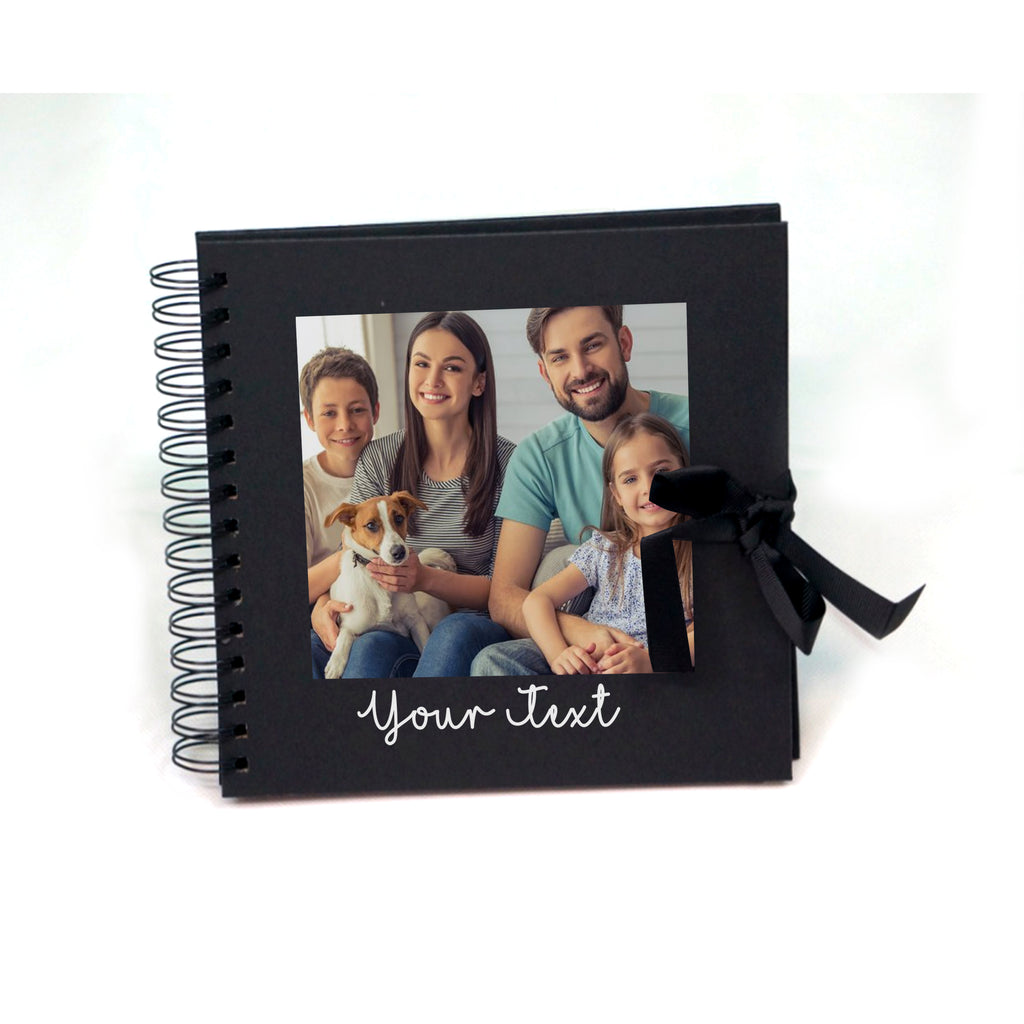 Personalised Photo Text Wedding Album Memory Spiral Scrapbook - Black - Ai Printing