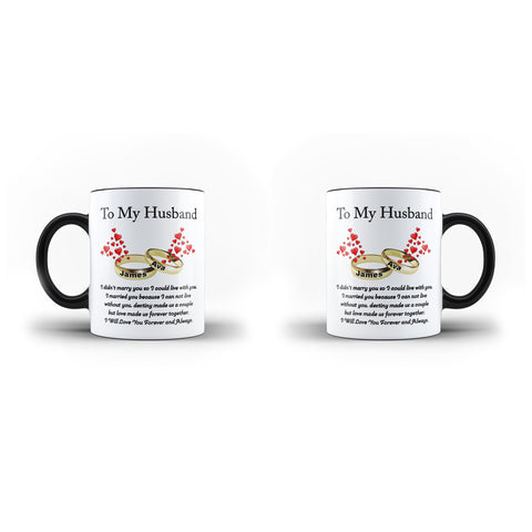 Personalised Name To My Husband Wedding Gift Mug - Personalised Mug - Ai Printing