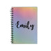 Personalised Journal Travel Memory A5 Kraft Notebook - Iridescent Foil Rainbow - Ai Printing