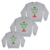 Mama Papa and Little Elf Family Christmas Sweatshirt - Ai Printing - Ai Printing