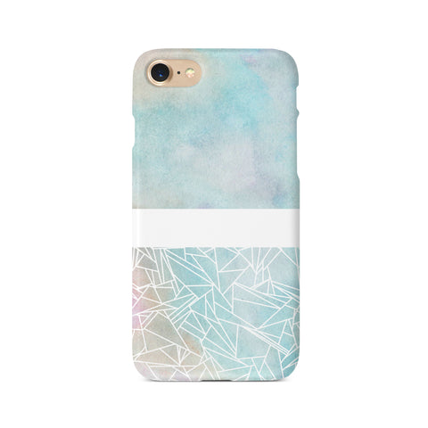 Geometric Pastel Watercolour - 3D Clip Case - Ai Printing