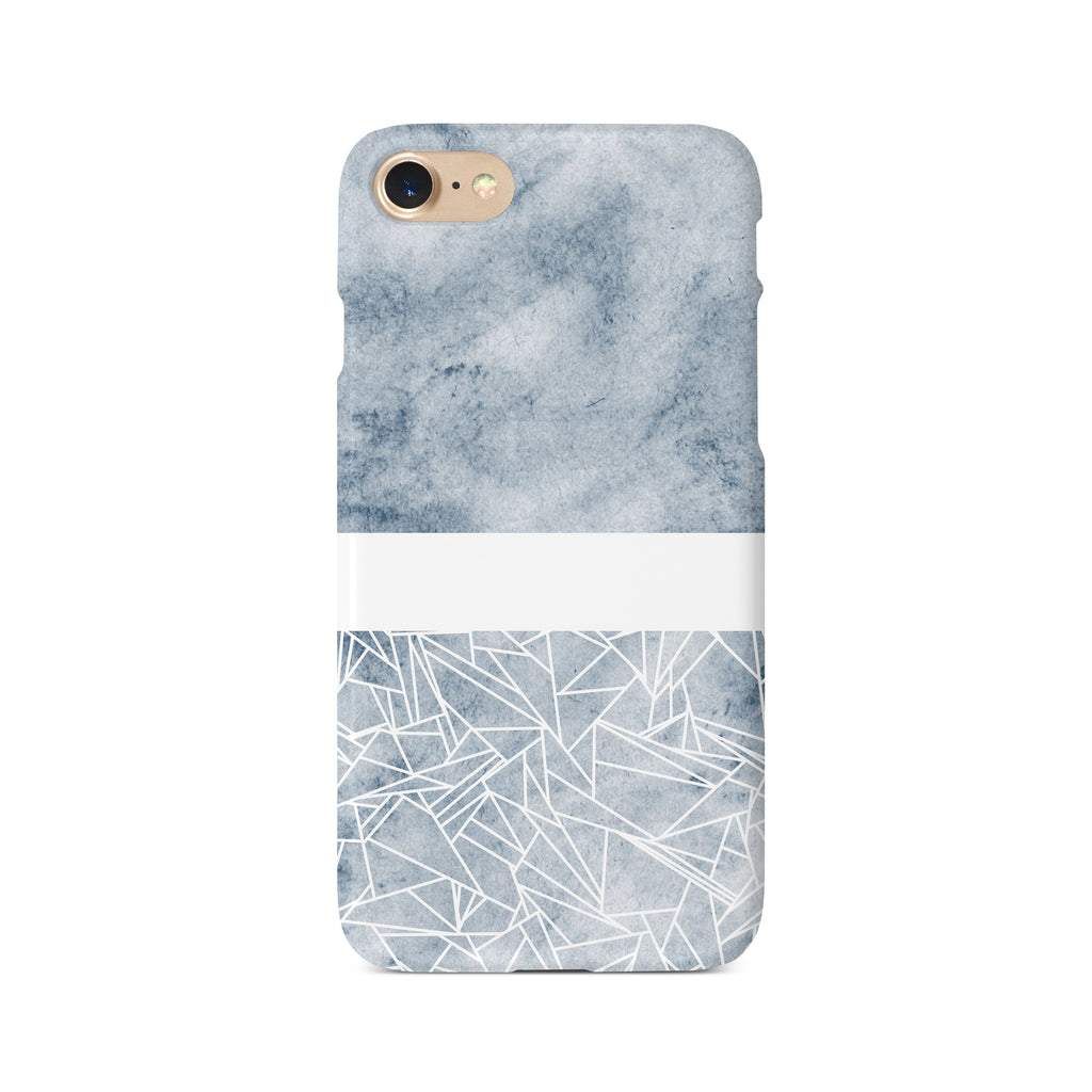 Geometric Grey Watercolour - 3D Clip Case - Ai Printing