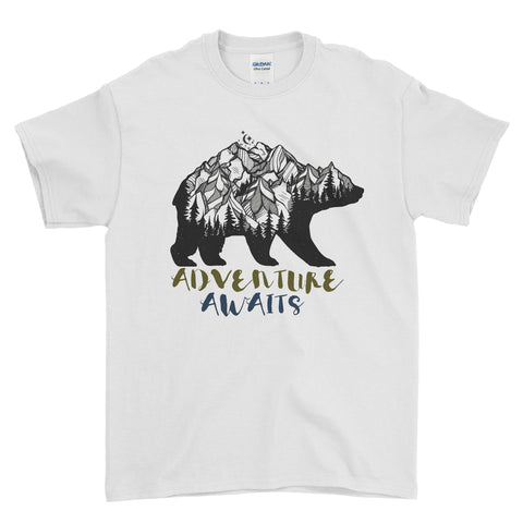 Bear Adventure Awaits - T-shirt - Mens - Ai Printing