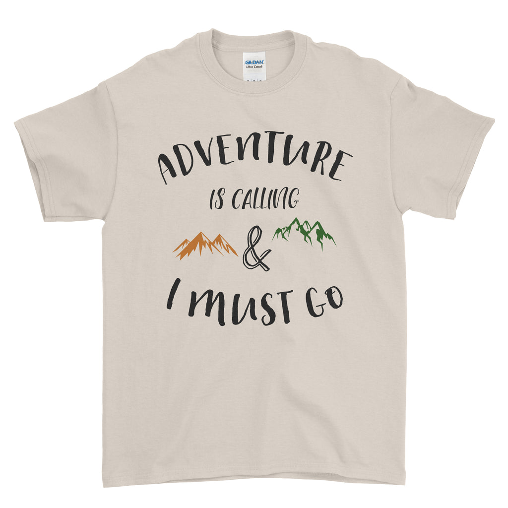 Adventure Is Calling I Must Go - T-shirt - Mens - Ai Printing