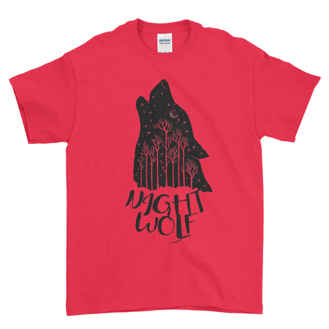 Night Wolf - T-shirt - Mens - Ai Printing