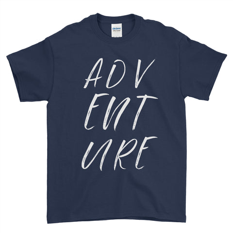 Adventure Slogan - T-shirt - Mens - Ai Printing