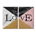Geometric Love Double Panel Canvas - Portrait - Ai Printing