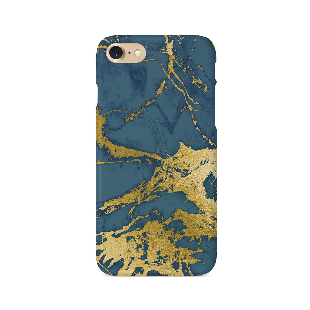 Printed Peacock Blue & Gold - 3D Clip Case - Ai Printing