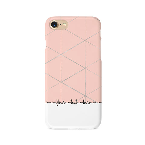 Geometric Personalised Text A - 3D Clip Case - Ai Printing