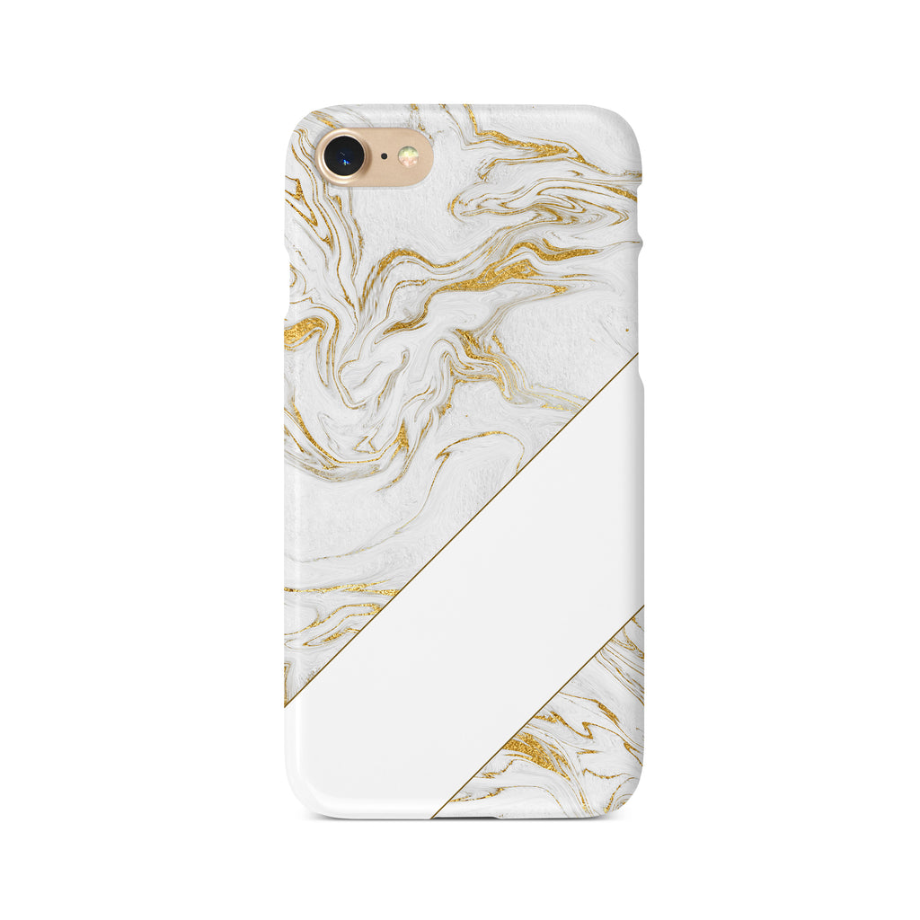 Gold Effect Marble with Diagonal Block - 3D Clip Case - Ai Printing