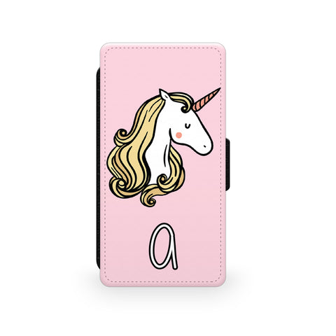 Pink Unicorn - Faux Leather Case - Ai Printing