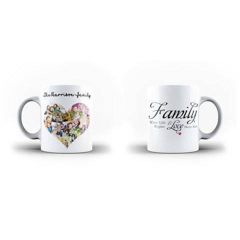 Personalised Mug Custom Collage Family Memorable Gift - Personalised Mug