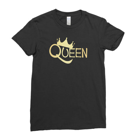 Queen Crown - T-shirt - Womens - Ai Printing