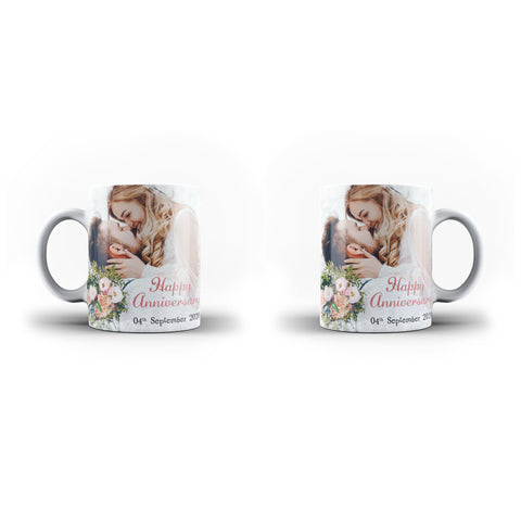 Personalised Collage Photo Mug Custom Text Anniversary Gift - Personalised Mug