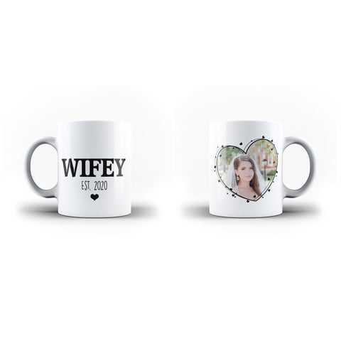 Personalised Wifey Since Wedding Photo Collage Mug Wedding Gift - Personalised Mug - Ai Printing