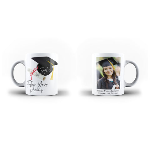 Personalised Mug Custom Photo Graduation Memorial Lovely Gift - Personalised Mug