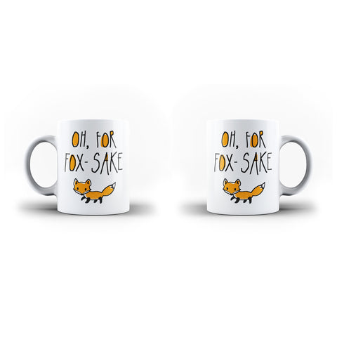 Oh, For Fox-Sake - Unique Mug - White - Ai Printing