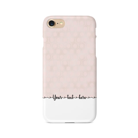 Geometric Personalised Text C - 3D Clip Case - Ai Printing