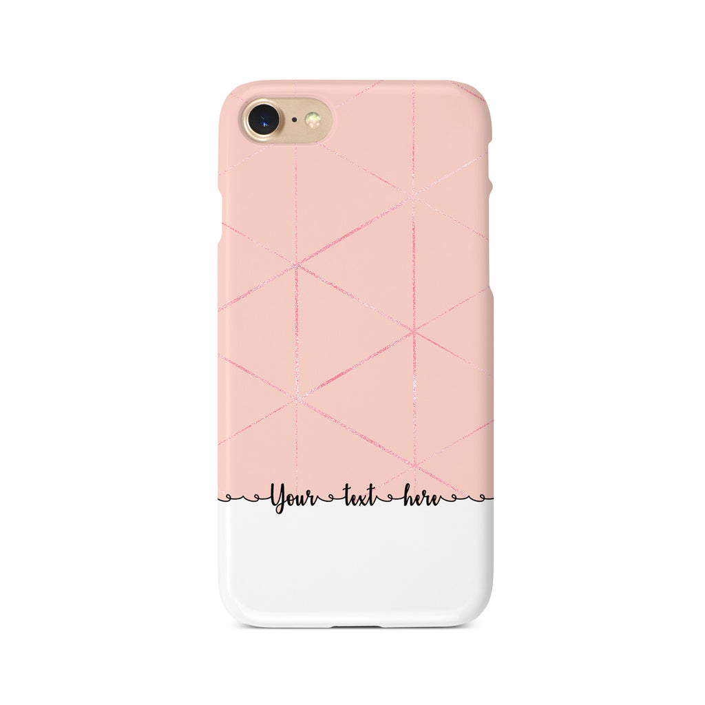 Geometric Personalised Text D - 3D Clip Case - Ai Printing