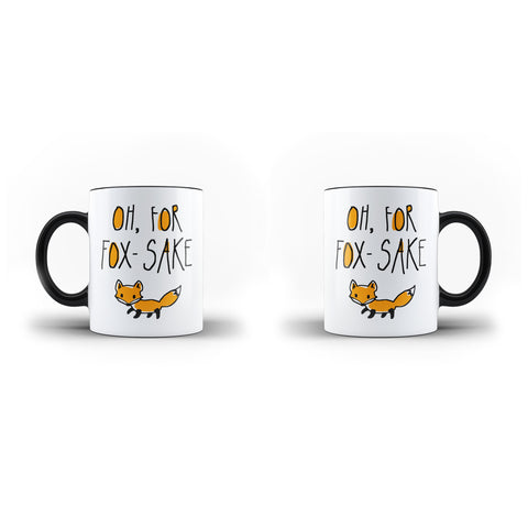 Oh, For Fox-Sake - Unique Mug - Magic - Ai Printing