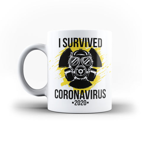 I Survived Corona Virus 2020  - White Magic And Inner Color Mug(mugs near me,mug website)