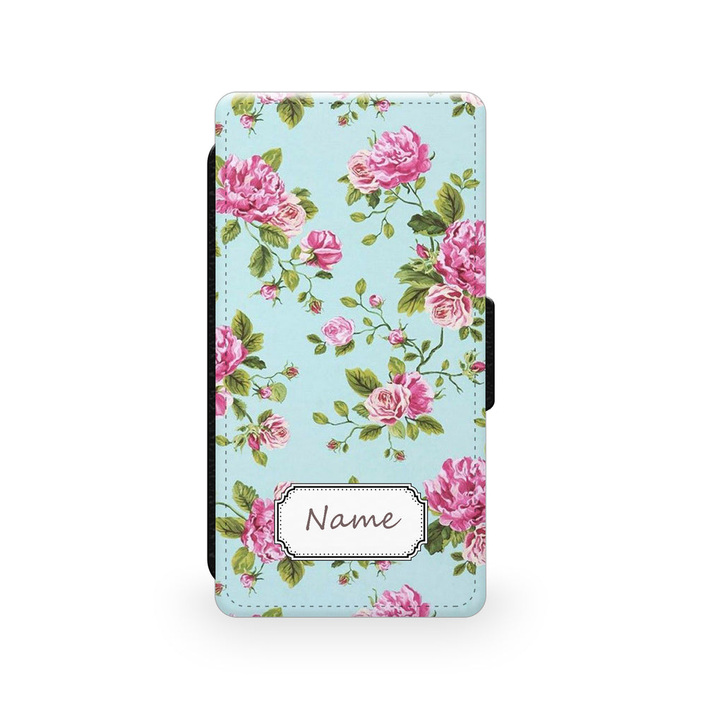 Blue Roses - Faux Leather Case - Ai Printing