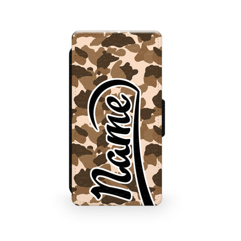 Brown Camouflage Print - Faux Leather Case - Ai Printing