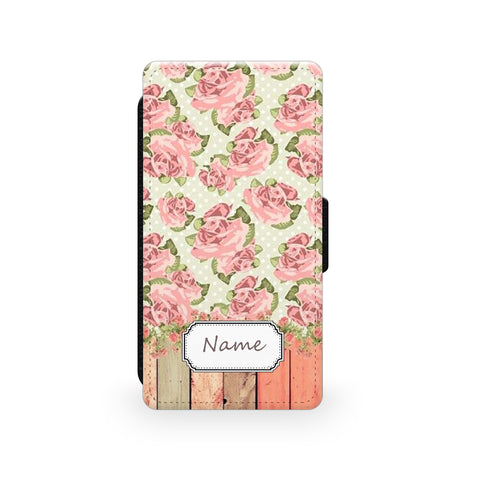 Pink Rose - Faux Leather Case - Ai Printing