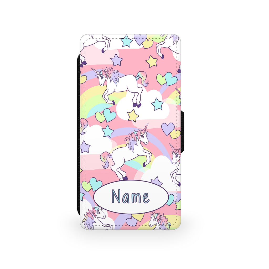 Pastel Unicorn Pattern - Faux Leather Case - Ai Printing