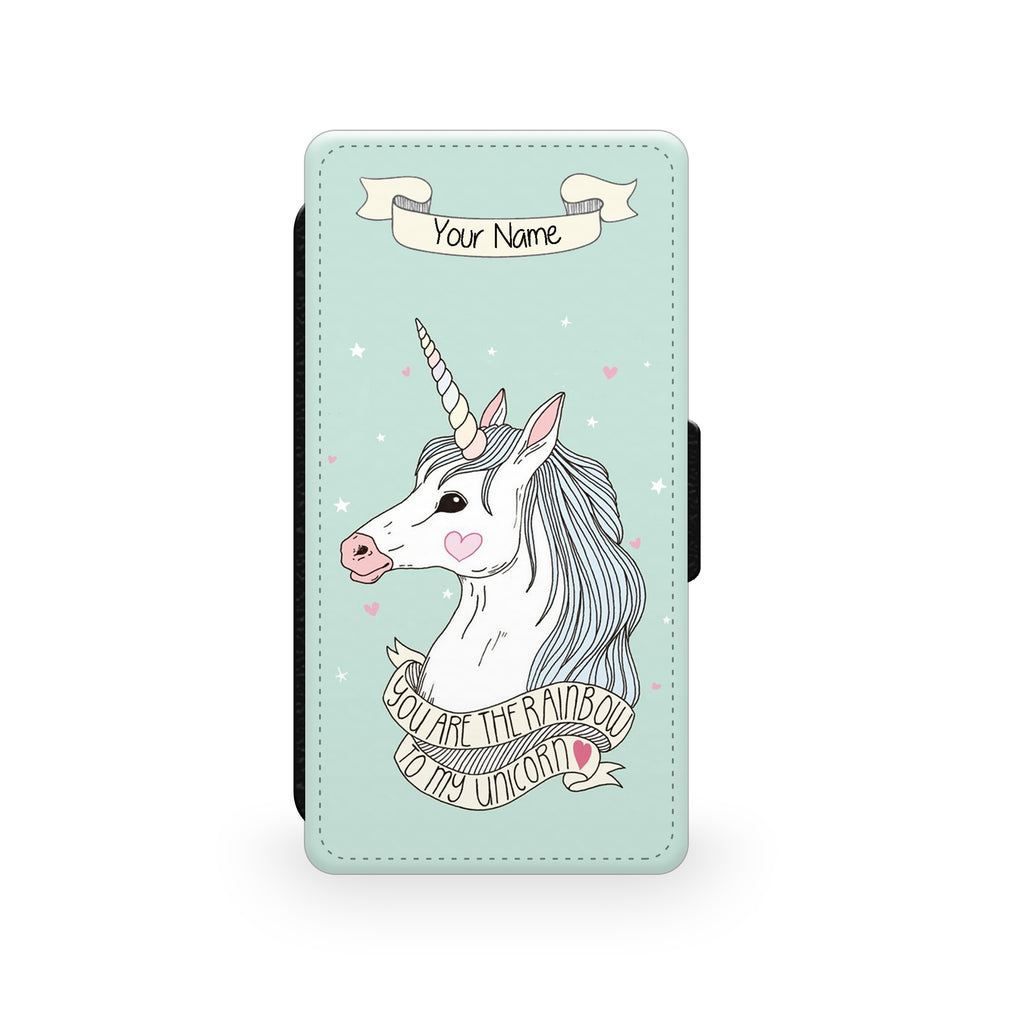 Green Unicorn - Faux Leather Case - Ai Printing