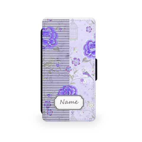 Purple Rose - Faux Leather Case - Ai Printing