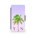 Lilac Sky & Green Palm Tree - Faux Leather Case - Ai Printing