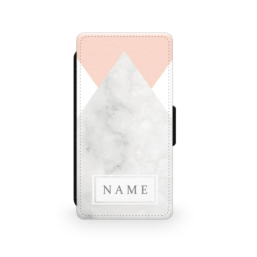 Pink Marble - Faux Leather Case - Ai Printing