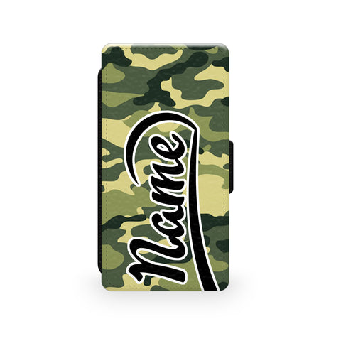 Green Camouflage Print - Faux Leather Case - Ai Printing