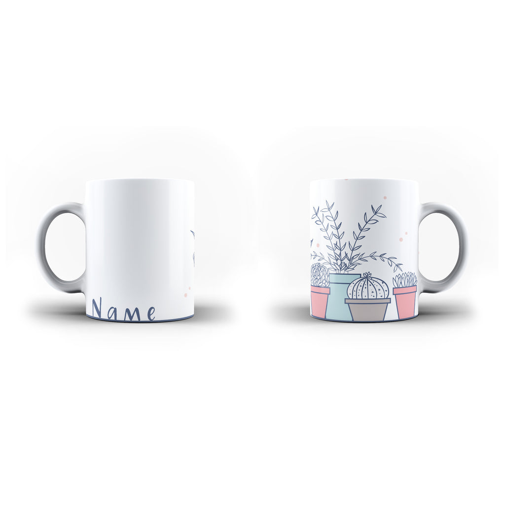Potted Plants - Personalised Mug - White - Ai Printing