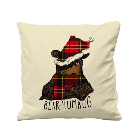 Santa Bear Humbug - Cushion Cover - 41 x 41 cm - Ai Printing