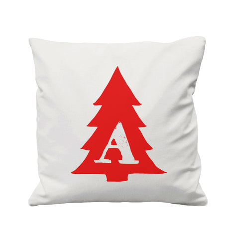 Christmas Tree Personalised Initial - Cushion Cover - 41 x 41 cm - Ai Printing