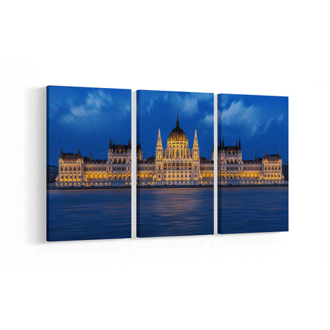 Parliament Budapest 3 Panel Canvases - Landscape - Ai Printing