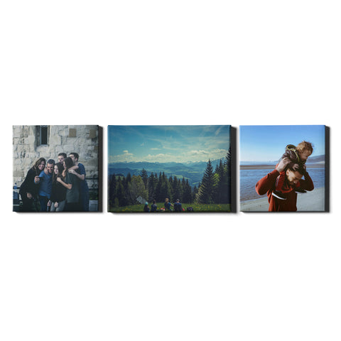 3 Panel Personalised Canvases - Collage Style Square & Landscape - Fixed Size - Ai Printing